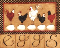 Eggs in a row Fine Art Print