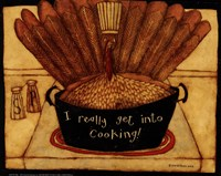 Get into cooking Fine Art Print
