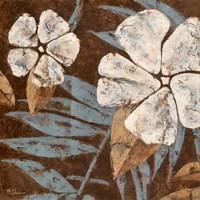 "Flowers on Chocolate II by Maria Donovan - 6"" x 6"""