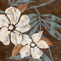 Flowers on Chocolate I Fine Art Print