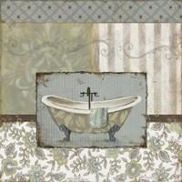 """Country Style Bath I by Carol Robinson - 12"""" x 12"""""""