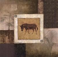 "Zebra Woodcut by Michael Marcon - 24"" x 24"""