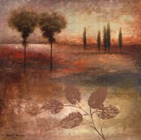 """Warm Textural Landscape I by Michael Marcon - 24"""" x 24"""""""