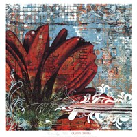 """Graffiti Gerbera by Christina Lazar-Schuler - 20"""" x 20"""""""
