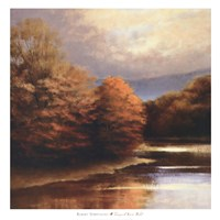 """Tranquil River Bend by Robert Striffolino - 39"""" x 39"""""""