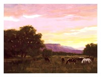 Grazing Below The Mesa Fine Art Print