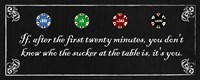 "20"" x 8"" Poker Sayings"