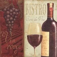 "Wine List I by Daphne Brissonnet - 12"" x 12"", FulcrumGallery.com brand"