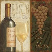 "Wine List II by Daphne Brissonnet - 12"" x 12"", FulcrumGallery.com brand"