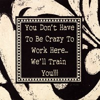 "Crazy by Jo Moulton - 12"" x 12"" - $9.99"