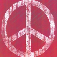 "Pink Peace by Louise Carey - 12"" x 12"" - $9.99"