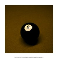 8 Ball on Brown Fine Art Print