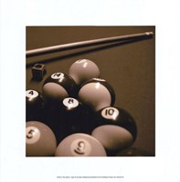 Pool Table II - Sepia Fine Art Print