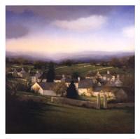 "Village by Dona Gelsinger - 26"" x 26"", FulcrumGallery.com brand"