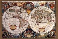 """36"""" x 24"""" World Map Art"""