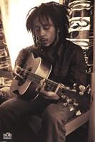 Bob Marley - Sepia Wall Poster