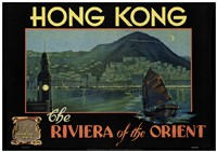 Hong Kong - Riviera of the Orient Fine Art Print