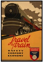 Canadian Pacific - Travel by Train Fine Art Print