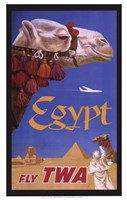 Egypt - Fly TWA Fine Art Print