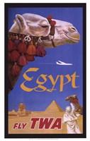 Egypt - Fly TWA Framed Print