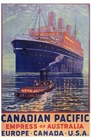 Canadian Pacific - Empress of Australia Fine Art Print