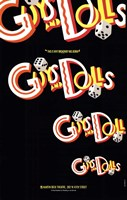 """Guys and Dolls (Broadway) - style A - 11"""" x 17"""", FulcrumGallery.com brand"""