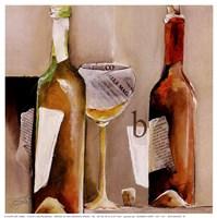"""Vino Bianco """"B"""" Framed Print"""