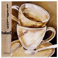 Due Cappuccino Fine Art Print