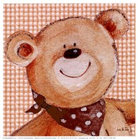Spotty Scarf Ted Fine Art Print