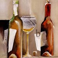 """Vino Bianco """"B"""" by Elizabeth Espin - 20"""" x 20"""""""