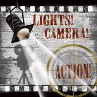 Lights! Camera! Action! Fine Art Print