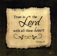 Trust In The Lord - square Framed Print