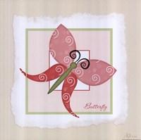 """Butterfly by Jennifer Pugh - 12"""" x 12"""", FulcrumGallery.com brand"""