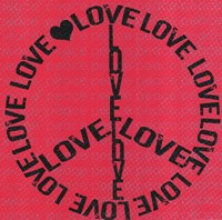 """Love Peace by Louise Carey - 12"""" x 12"""" - $9.99"""