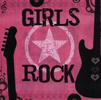 Girls Rock Framed Print