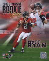 Matt Ryan 2008 Rookie of the Year Portrait Plus Fine Art Print