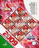 """2009 St. Louis Cardinals Team Composite, 2009 - 8"""" x 10"""", FulcrumGallery.com brand"""