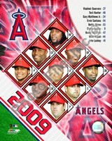 "2009 Los Angeles Angels Team Composite, 2009 - 8"" x 10"", FulcrumGallery.com brand"