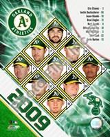 """2009 Oakland A's Team Composite, 2009 - 8"""" x 10"""", FulcrumGallery.com brand"""