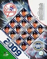 "2009 New York Yankees Team Composite, 2009 - 8"" x 10"", FulcrumGallery.com brand"