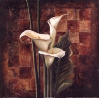 """Ochre Ajedrez II by Patricia Pinto - 12"""" x 12"""""""