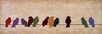 Birds Meeting Fine Art Print