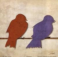"""Birds I by Patricia Pinto - 12"""" x 12"""", FulcrumGallery.com brand"""