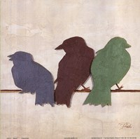 "Birds III by Patricia Pinto - 12"" x 12"" - $9.99"