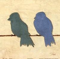 """Birds IV by Patricia Pinto - 12"""" x 12"""", FulcrumGallery.com brand"""