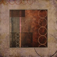 "Circles in the Abstract I with Border by Michael Marcon - 12"" x 12"""