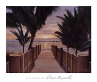 Palm Promenade Fine Art Print