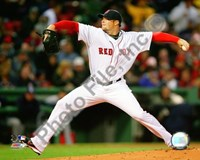 "Jon Lester 2009 Pitching Action - 10"" x 8"", FulcrumGallery.com brand"