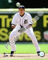 """Miguel Cabrera 2009 Fielding Action - 8"""" x 10"""", FulcrumGallery.com brand"""