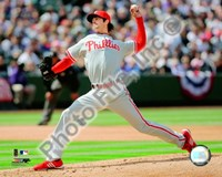 """Cole Hamels 2009 Pitching Action - 10"""" x 8"""", FulcrumGallery.com brand"""